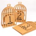 Marques tables de 1 à 12 Cage à oiseaux kraft