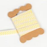 Ruban de tissu chevron  jaune