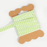 Ruban de tissu chevron vert anis