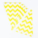 Fanions carton perforés (x5) chevron  jaune