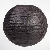 Lampion boule déco pailleté noir
