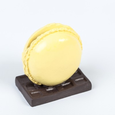 Macaron marque place jaune