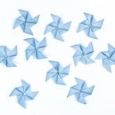 Sticker moulin à vent bleu ( x 10 )