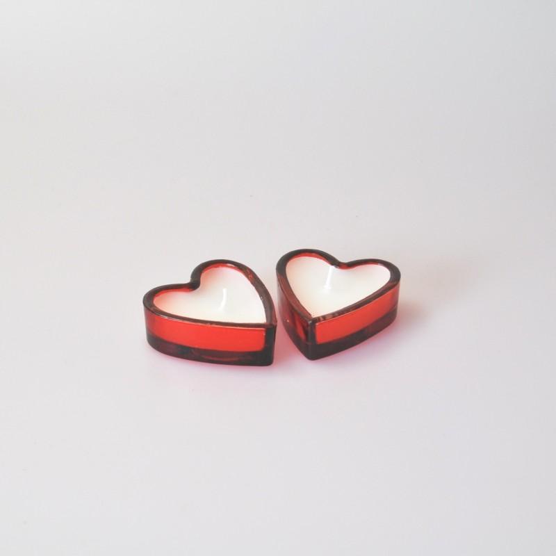 Petits bougeoirs en forme de c ur x2 - Deco en forme de coeur ...