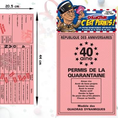 Permis de la quarantaine (40ans)