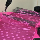 "Chemin de table ""Glamour"" en organdi"