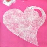 Sets coeur en intissé (x6) blanc