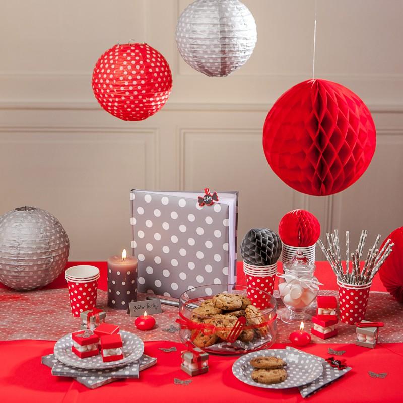 boules d coratives alv ol es mm x2 rouge. Black Bedroom Furniture Sets. Home Design Ideas