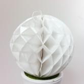 Petites boules décoratives alvéolées (x2) blanches