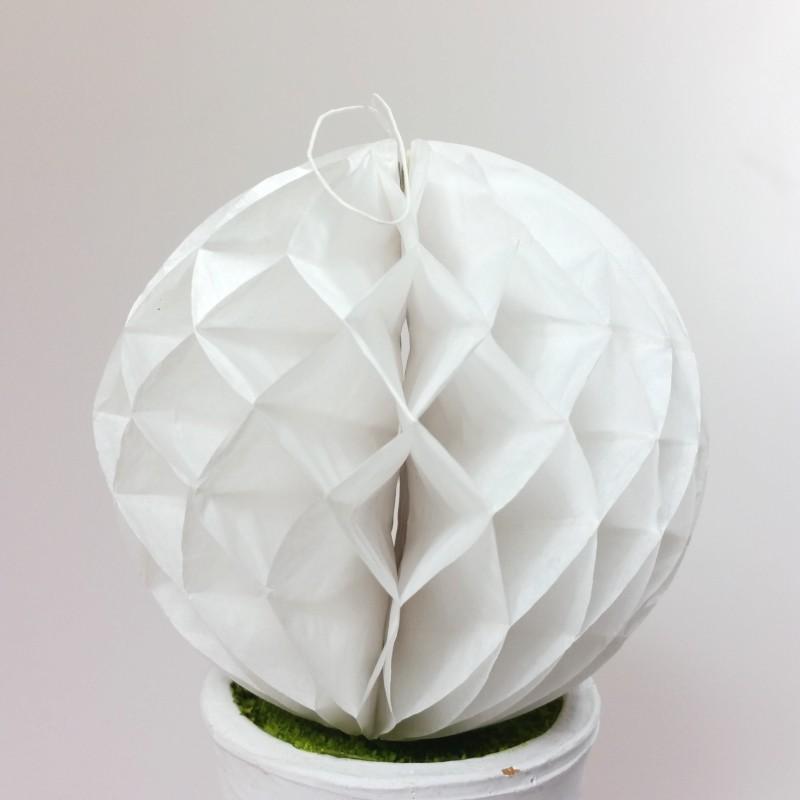 petites boules d coratives alv ol es x2 blanches. Black Bedroom Furniture Sets. Home Design Ideas