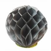 Petites boules décoratives alvéolées (x2) grises