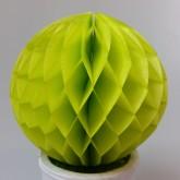 Petites boules décoratives alvéolées (x2) vert anis