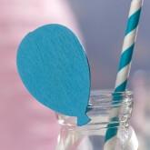 Ballon sur pince (x6) bleu