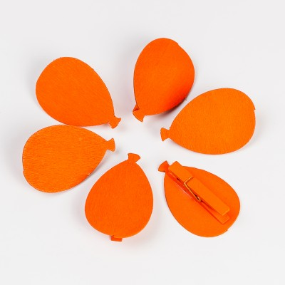 Ballon sur pince ( X 6) orange