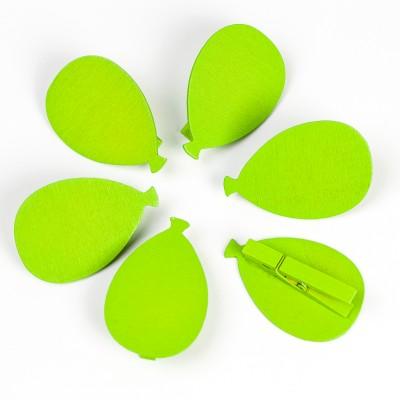 Ballon sur pince ( X 6) vert anis