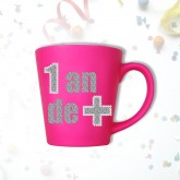 "Mug âge ""1 an de +"" fuchsia"