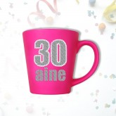 Mug âge « 30 ans » fuchsia