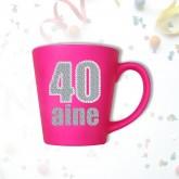 Mug âge « 40 ans » fuchsia
