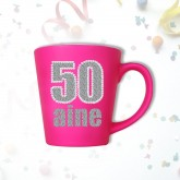 Mug âge « 50 ans » fuchsia
