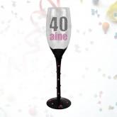 """Flûte âge """"40 ans"""" noire"""