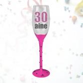 "Flûte âge ""30 ans"" fuchsia"