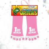 """Chaussettes orteils """"1 an de +"""" rose"""