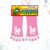"Chaussettes orteils ""30 aine"" rose"