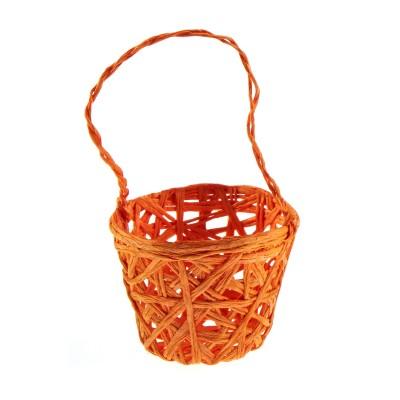 Petits paniers en fibre tressée orange (x3)