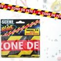 Banderole « danger zone de fête »