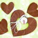 Kit guirlande coeurs et confettis chocolat
