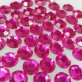 Diamants plats (x50) fuchsia
