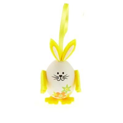 Petits lapins œufs (x3) jaune