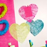 Sets coeur en sisal (x6) vert anis