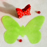Dessous de verre papillons en non tissé (x12) vert anis