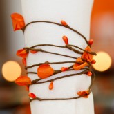 Guirlande de deco zen orange