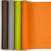 Chemin de table, tête à tête uni orange