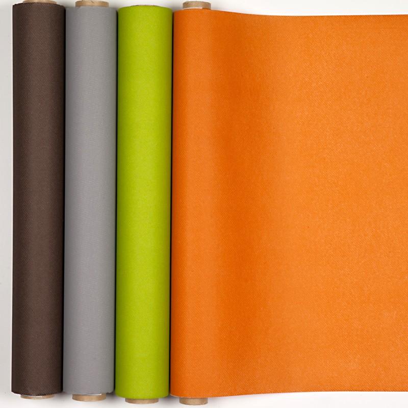 Chemin de table t te t te uni orange - Chemin de table orange ...