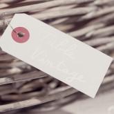 Etiquettes fil alu blanches (50)