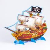 Centre de table bateau pirate