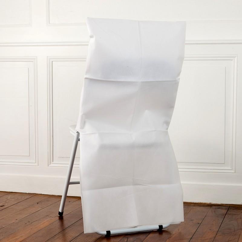 Housse de dossier de chaise x10 for Housse de chaise dossier arrondi