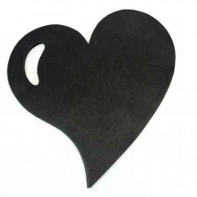 Sets de table coeur en non tissé noir (x50)
