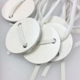 Bracelets ardoise et velours (x6) blanc