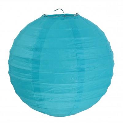 Lampion décoratif grand modèle turquoise