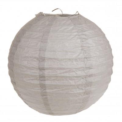 Lampion décoratif grand modèle gris