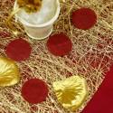 Confettis ronds non tissés (x50) bordeaux