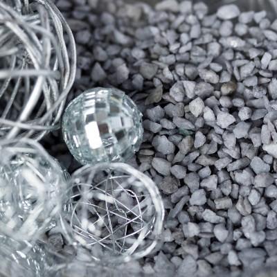 Pépites décoratives gris