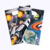 """Pochettes cadeaux """"Astronaute""""(x8)"""