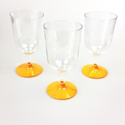 Verres à vin transparent orange (x8)