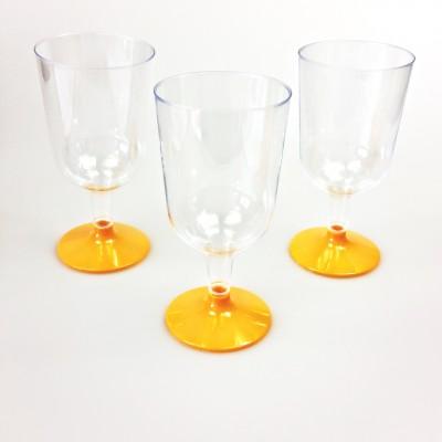 Verres à vin transparent orange (x8)