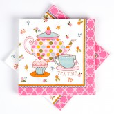 "Serviettes papier ""Tea Party""(x16)"